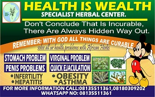 Health is wealth banner